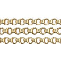 Chain Rolo Box Link 4mm - Matte Gold - per foot