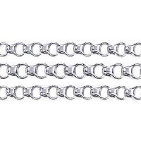 Chain Rolo Box Link 4mm - Silver Plated - per foot
