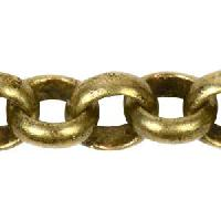 Rolo Chain 3.8mm - Antique Brass - per foot