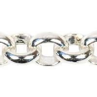 Rolo Chain 3.8mm - Silver Plate - per foot