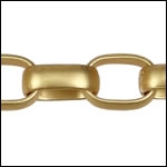 12mm Rounded Rectangle Chain - Matte Gold - per foot