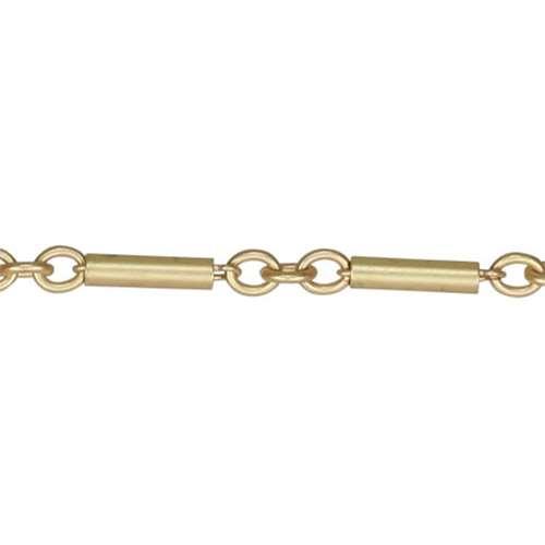 Bar Chain Matte Gold Dynamite Chain 12x3mm