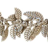 Leaf Chain with 4x6mm Leaves (1/2 ft) - Antique Silver - per HALF foot