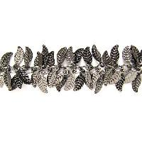 Leaf Chain with 4x6mm Leaves (1/2 ft) - Gunmetal - per HALF foot