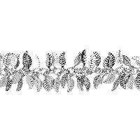Leaf Chain with 4x6mm Leaves (1/2 ft) - Rhodium