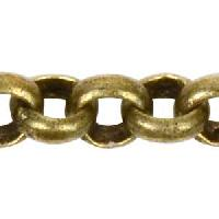 Rolo 2.0mm Chain - Antique Brass - per foot
