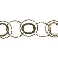 Multi Circle Chain - Antique Brass