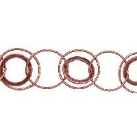 Multi Circle Chain - Antique Copper - per foot
