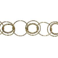 Multi Circle Chain - Matte Gold - per foot