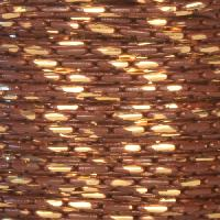 Chain Beading Two Tone 1mm - Brown / Gold - per foot