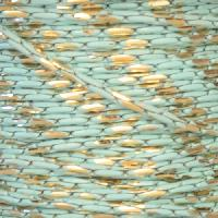 Chain Beading Two Tone 1mm - Turquoise / Gold