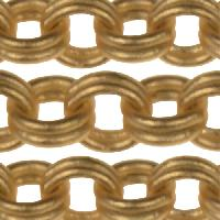 Chain Cable Double Link 3mm - Satin Hamilton Gold