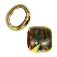 C-Koop Copper Enamel Slider Oval Large Hole 13mm - Black Multi