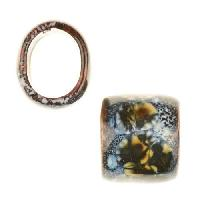 C-Koop Copper Enamel Slider Oval Large Hole 13mm - Arctic Rock
