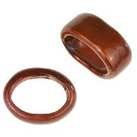 C-Koop Copper Enamel Slider Oval Large Hole 6mm - Brown Velvet