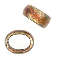 C-Koop Copper Enamel Slider Oval Large Hole 6mm - Sunset