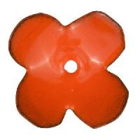 C-Koop Copper Enamel Rivetable / Stackable Flower Petal 4 Round 22mm - Pumpkin