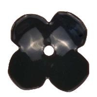 C-Koop Copper Enamel Rivetable / Stackable Flower Petal 4 Round 22mm - Black