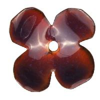 C-Koop Copper Enamel Rivetable / Stackable Flower Petal 4 Round 22mm - Wisteria