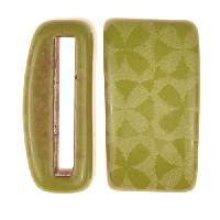 Clay River / Lillypilly Slider Flat 20mm Flowers - Lime