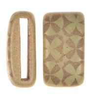Clay River / Lillypilly Slider Flat 20mm Flowers - Patina Green