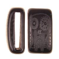 Clay River / Lillypilly Slider Flat 20mm Owl - Black