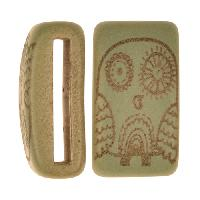 Clay River / Lillypilly Slider Flat 20mm Owl - Patina Green