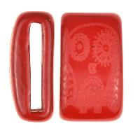 Clay River / Lillypilly Slider Flat 20mm Owl - Red