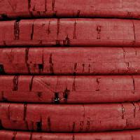 Regaliz Portuguese Cork 10mm Oval Cord - Dusty Rose