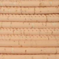 Portuguese 5mm ROUND Cork Cord - Peach