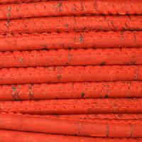 Portuguese 5mm ROUND Cork Cord - Red