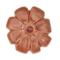 Claycult 23mm Medium Flower Ceramic Bead - Chalk Red