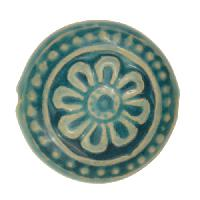 Claycult 25mm Flower Ceramic Disc - Egyptian Blue