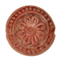 Claycult 25mm Flower Ceramic Disc - Chalk Red