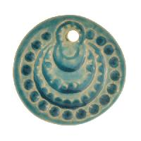 Claycult 26mm Circles Flat Round Ceramic Disc - Egyptian Blue