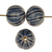 Claycult 14mm Baubles Round Ceramic Bead - Italian Blue