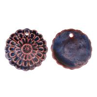 Claycult 20mm Flower Flat Ceramic Pendant - Purple Sunrise (ablaze italian)