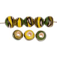Claycult 8mm Twiggy Round Ceramic Bead - Eucalyptus