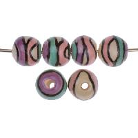 Claycult 10mm Twiggy Round Ceramic Bead - Sweet Pea