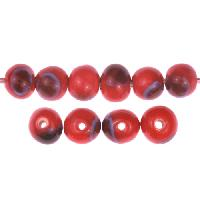 Claycult 6mm Round Ceramic Bead - Lady Bird Red