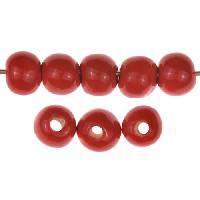 Claycult 8mm Round Ceramic Bead - Ablaze Red