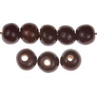 Claycult 8mm Round Ceramic Bead - Chocolate Brown