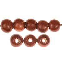 Claycult 8mm Round Ceramic Bead - Chocolate Cherry