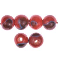Claycult 10mm Round Ceramic Bead - Lady Bird Red