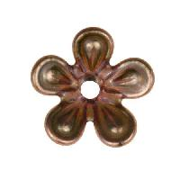 C-Koop Copper Enamel Rivetable / Stackable Flower Petal 5 Round 15mm - Clear Gold