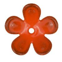 C-Koop Copper Enamel Rivetable / Stackable Flower Petal 5 Round 20mm - Pumpkin