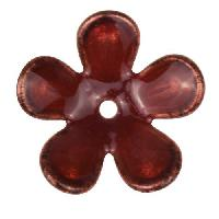 C-Koop Copper Enamel Rivetable / Stackable Flower Petal 5 Round 20mm - Wisteria