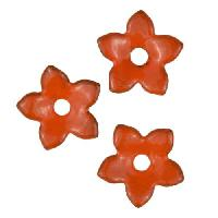 C-Koop Copper Enamel Rivetable / Stackable Flower Petal 5 Pointed 10mm - Pumpkin