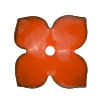 C-Koop Copper Enamel Rivetable / Stackable Flower Petal 4 Pointed 22mm - Pumpkin