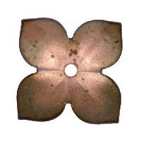 C-Koop Copper Enamel Rivetable / Stackable Flower Petal 4 Pointed 22mm - Clear Gold
